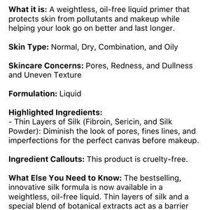 Tatcha Makeup - Tatcha the liquid silk canvas travel size